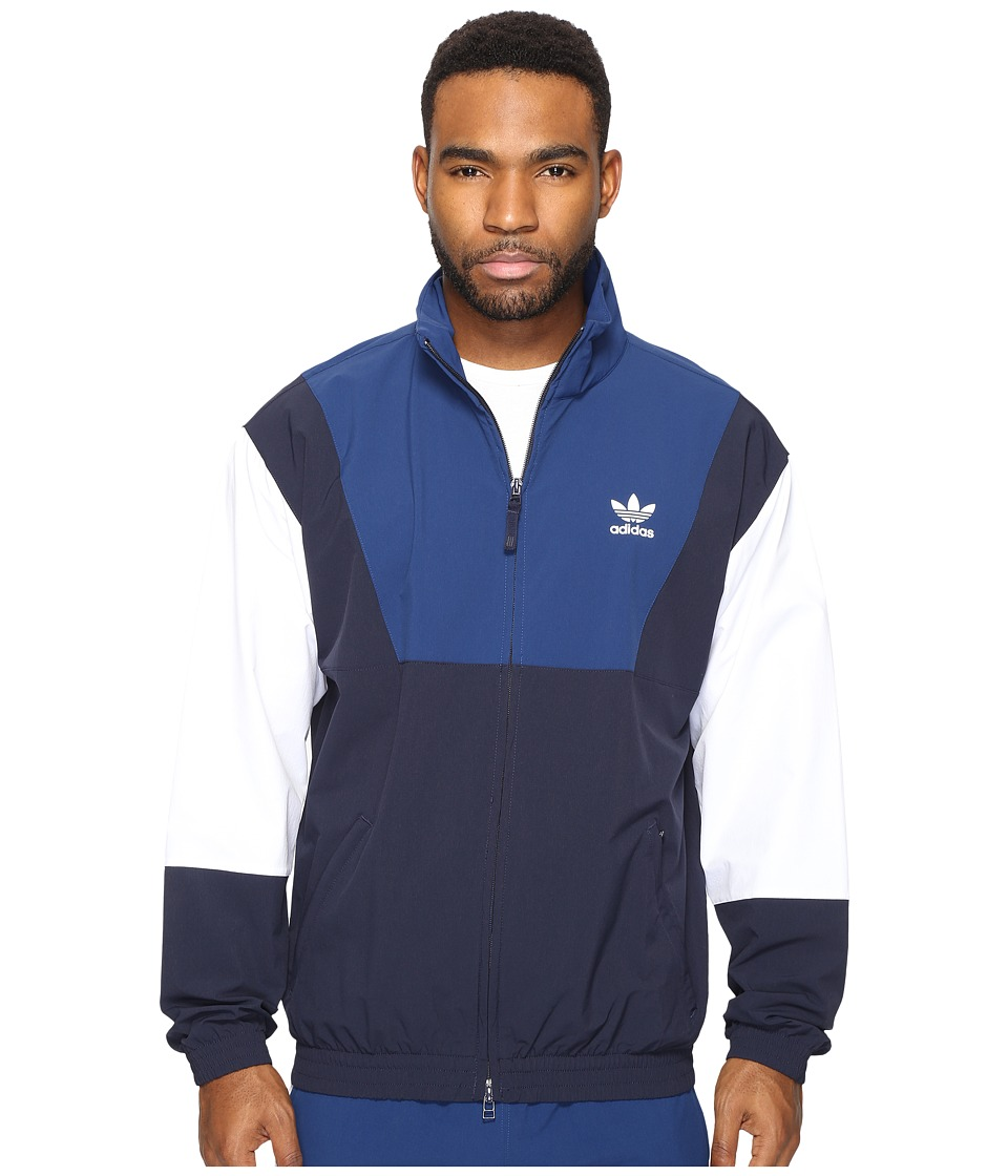 adidas Originals - Oridecon Blocked Wind Jacket (Legend Ink/Mystery Blue) Men's Coat