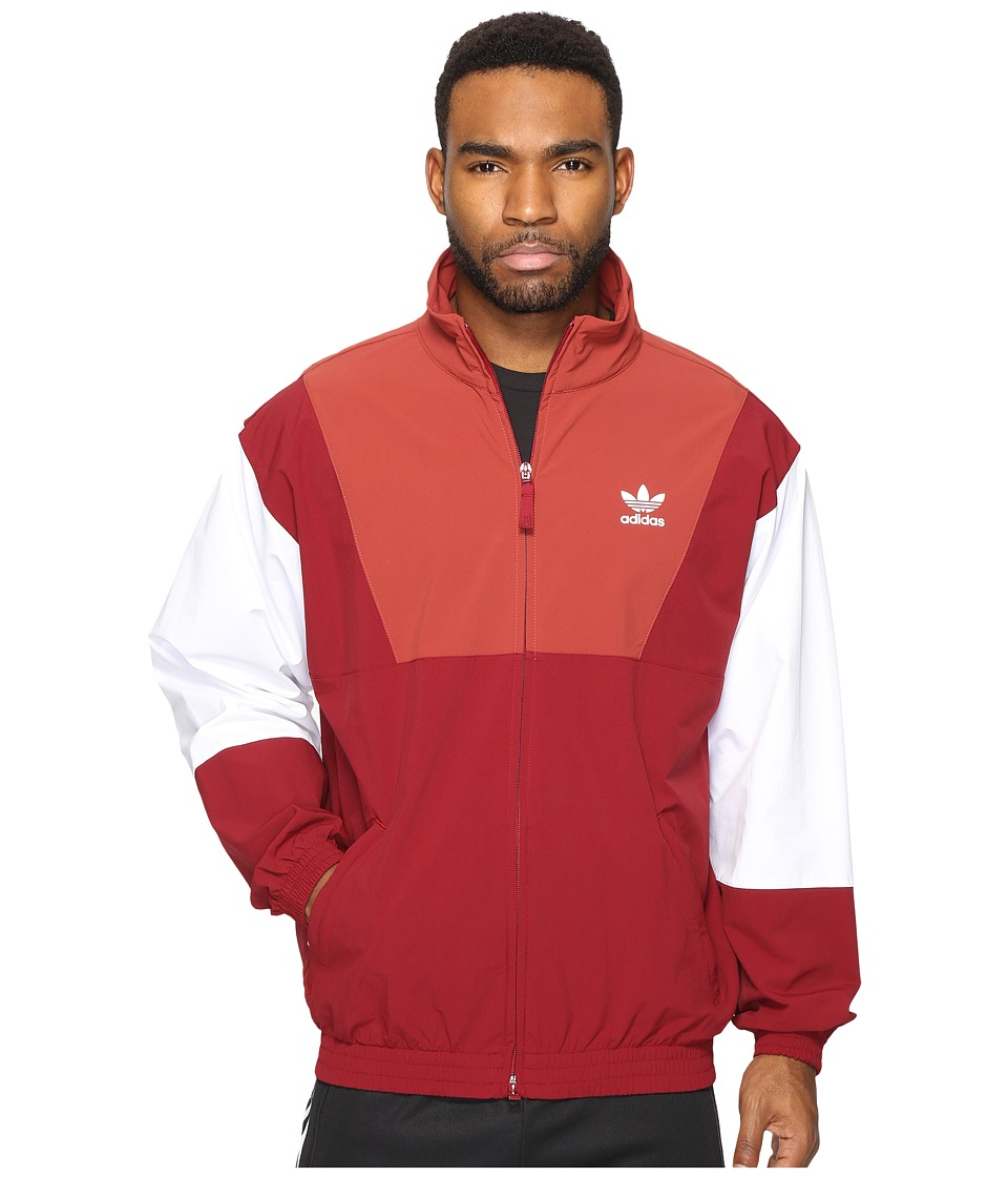adidas Originals - Oridecon Blocked Wind Jacket (Collegiate Burgundy/Mystery Red) Men's Coat