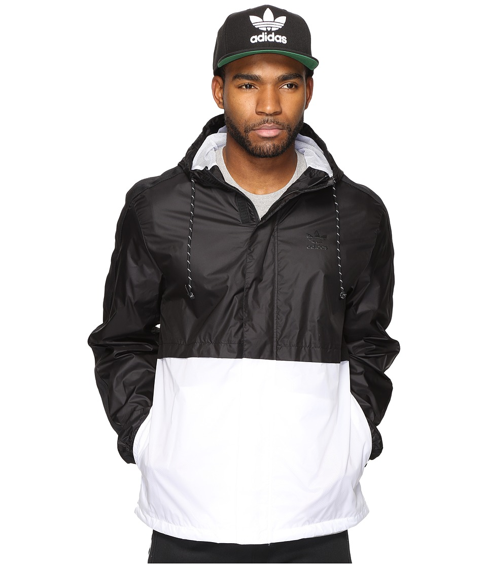 adidas Originals - Berlin Windbreaker (Black/White) Men's Clothing