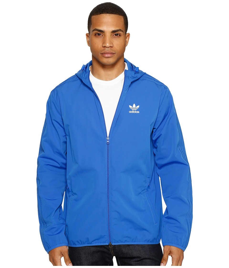 adidas Originals - NYC Herringbone Windbreaker (Blue) Men's Jacket