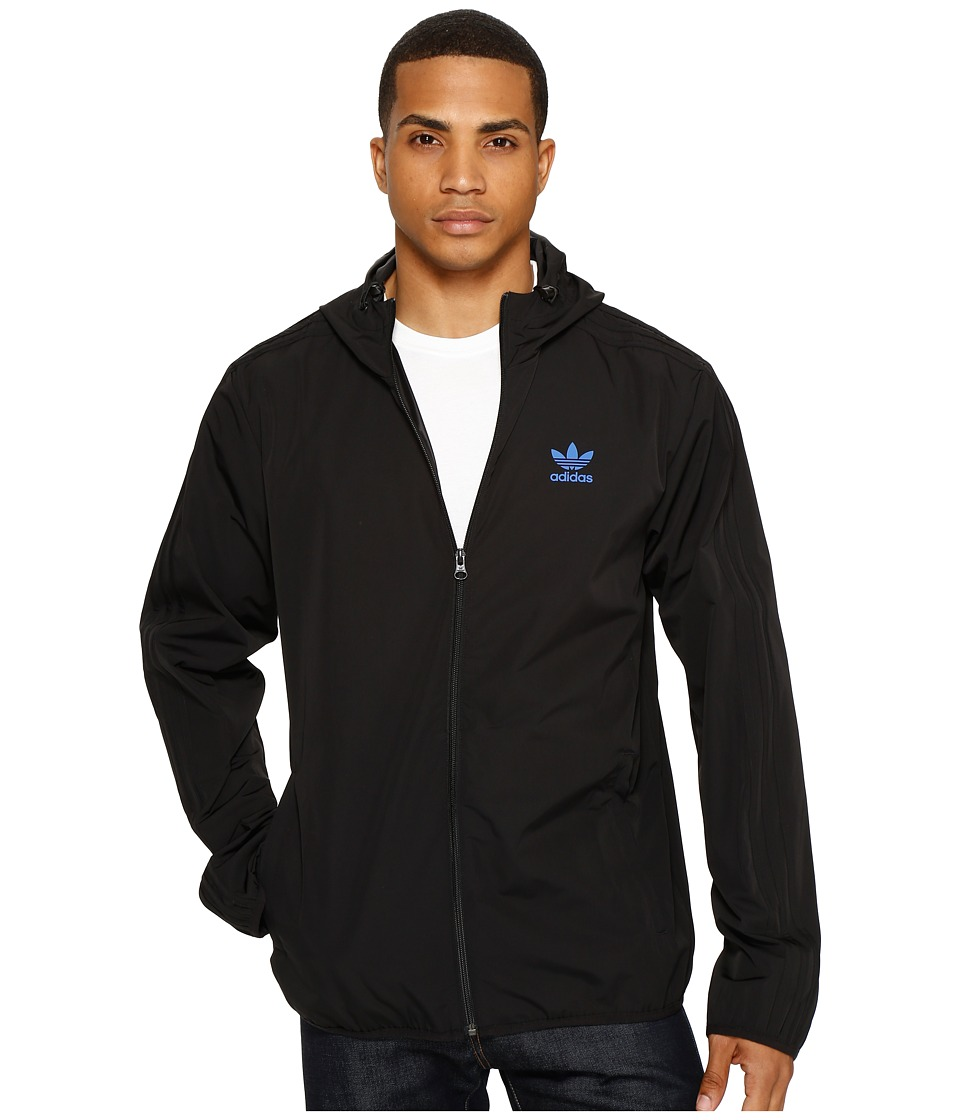 adidas Originals - NYC Herringbone Windbreaker (Black) Men's Jacket