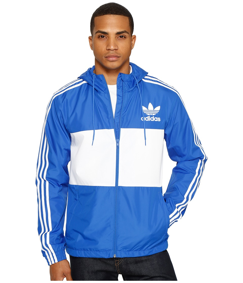 adidas Originals - California Windbreaker (Blue) Men's Clothing