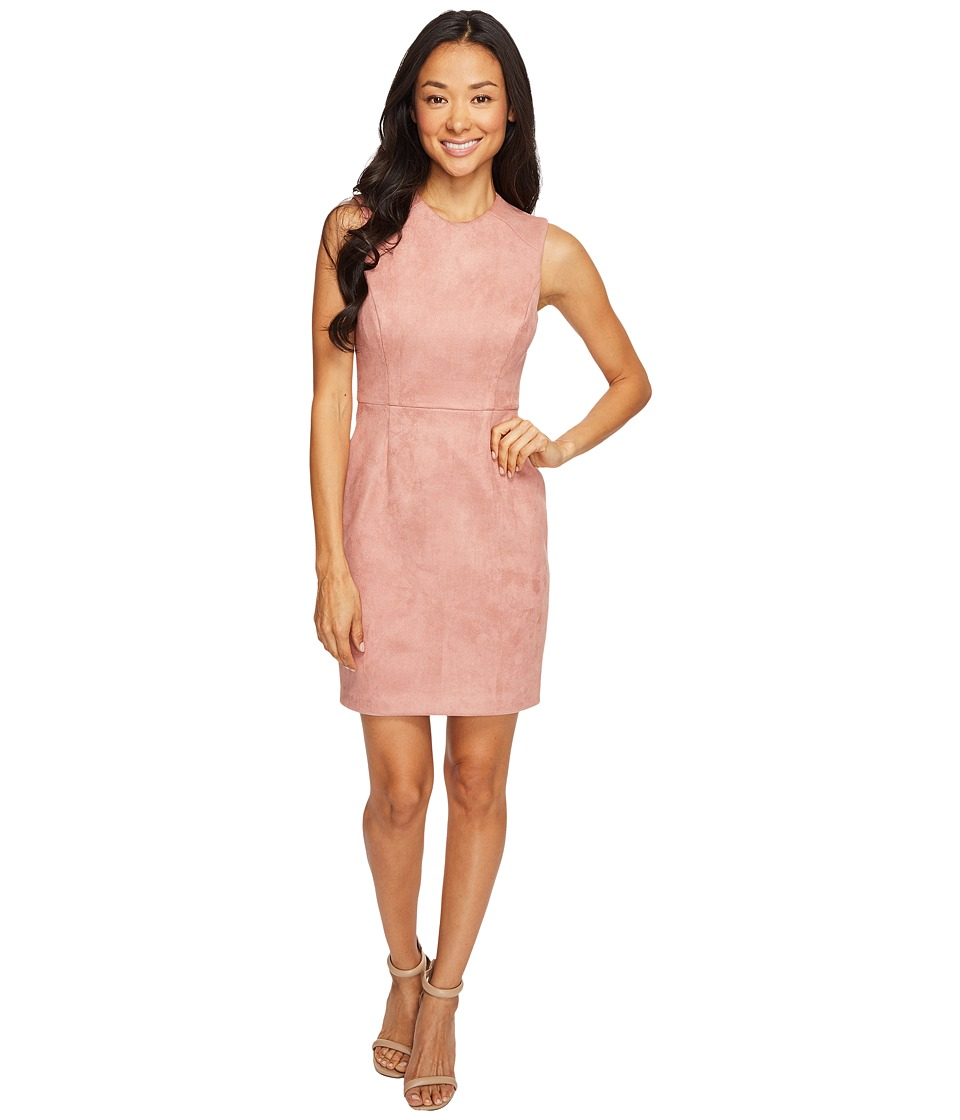 Tahari by ASL Petite Suede Look Sheath Desert Rose Dress