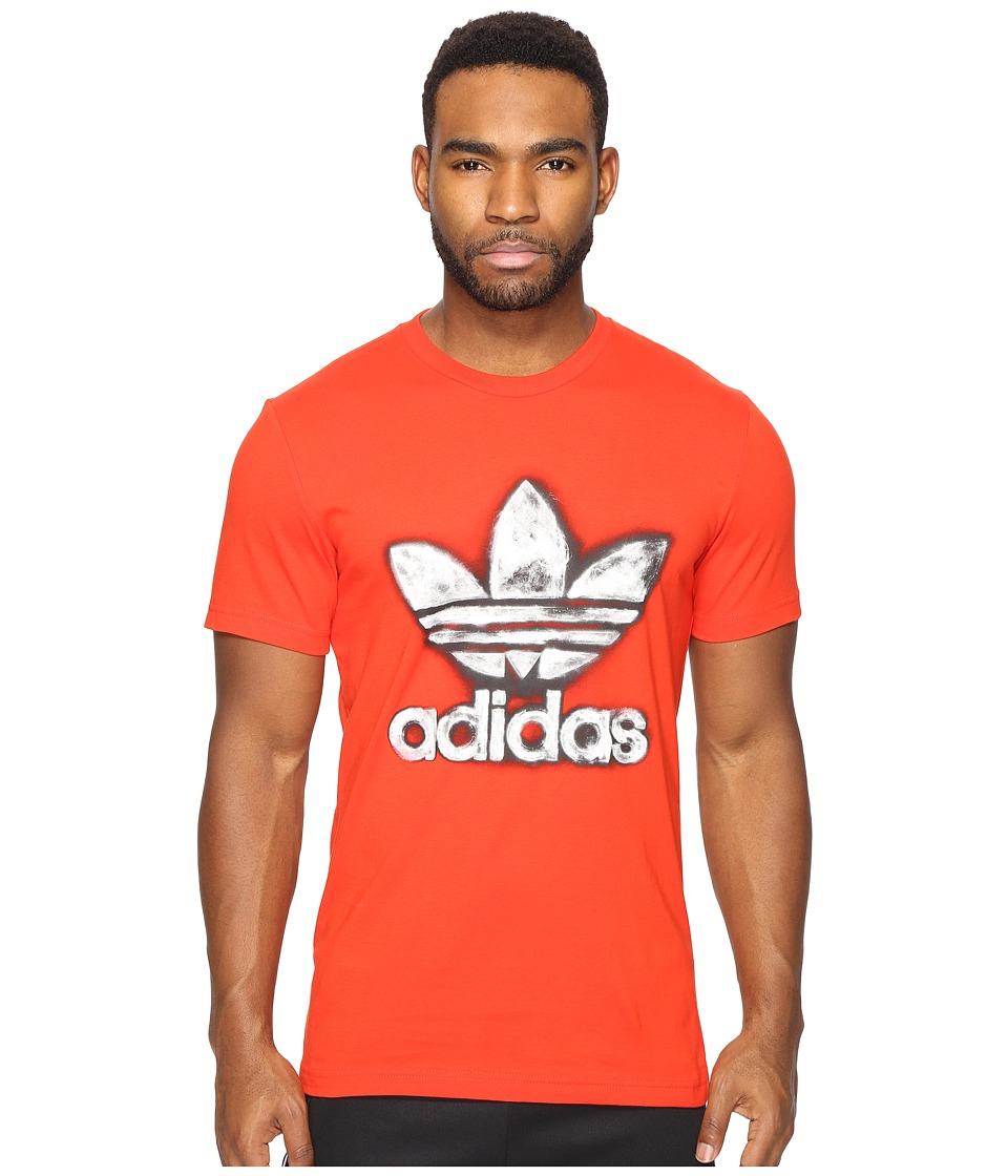 adidas Originals Trefoil Graphic Tee 3 (Core Red) Men