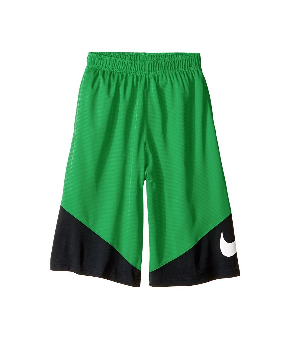 Nike Kids - HBR Short (Little Kids/Big Kids) (Stadium Green/Black/Black/White) Boy's Shorts