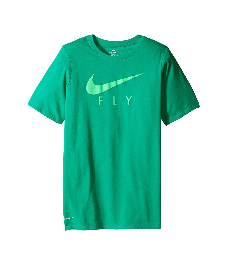 Nike Kids - Dry Swoosh Fly Basketball T-Shirt (Little Kids/Big Kids) (Stadium Green) Boy's T Shirt