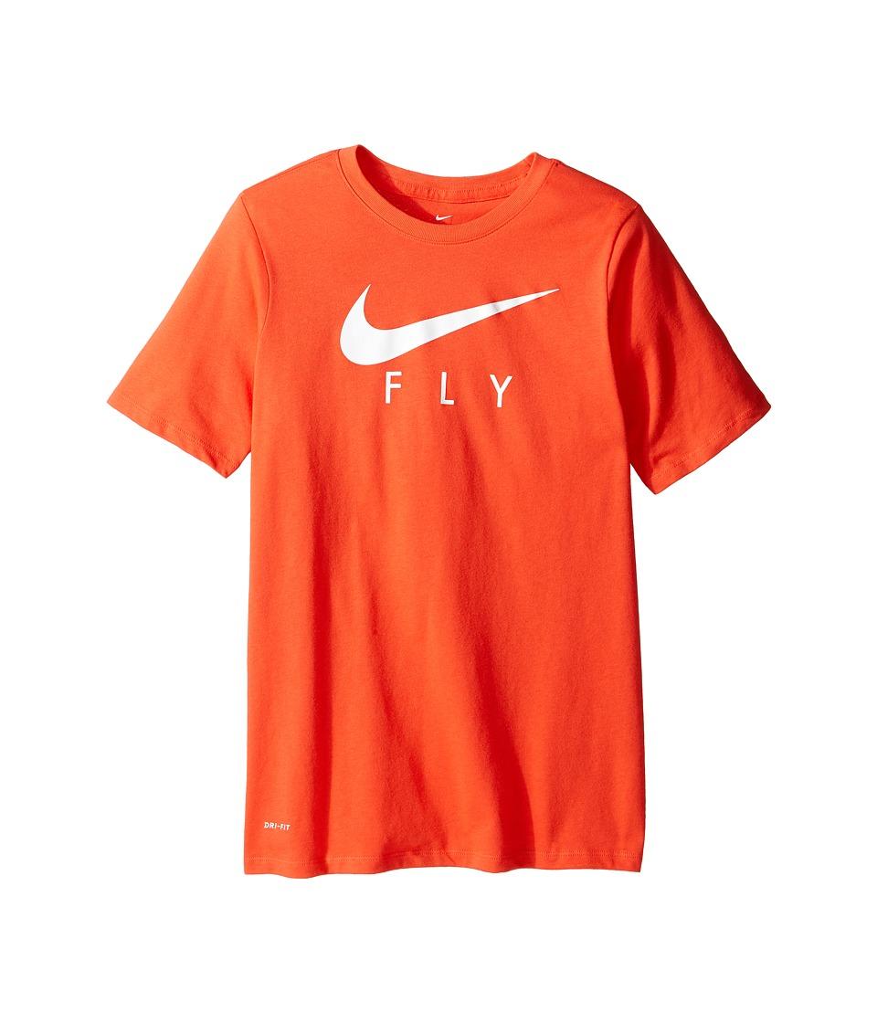 Nike Kids - Dry Swoosh Fly Basketball T-Shirt (Little Kids/Big Kids) (Max Orange) Boy's T Shirt