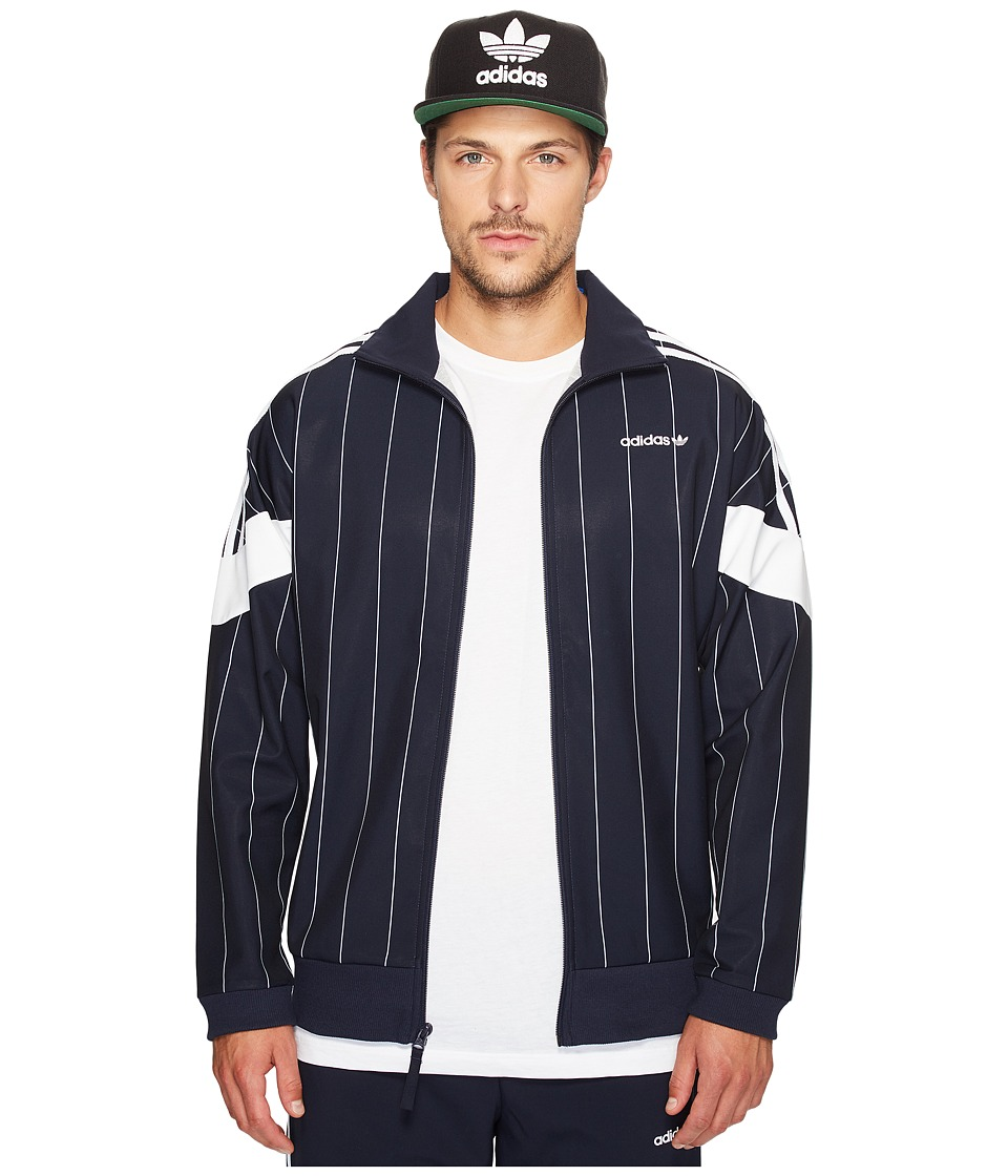 adidas Originals - Tokyo Pinstripes Challenger Track Top (Legend Ink/White) Men's Clothing
