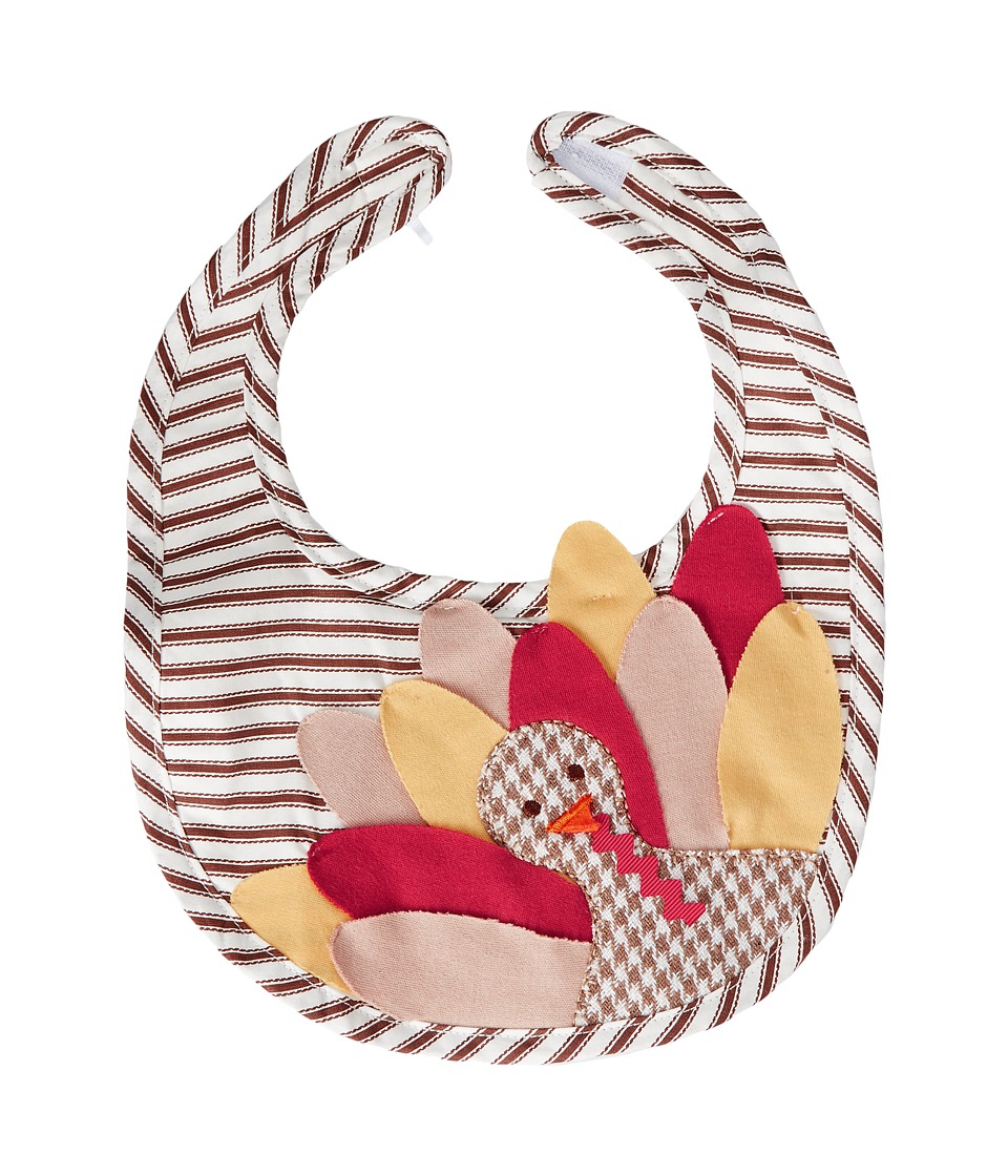 Mud Pie - Turkey Ticking Bib (Orange) Accessories Travel