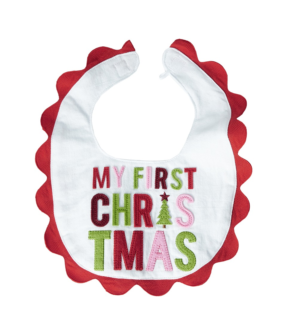 Mud Pie - My First Christmas Bib (White) Accessories Travel