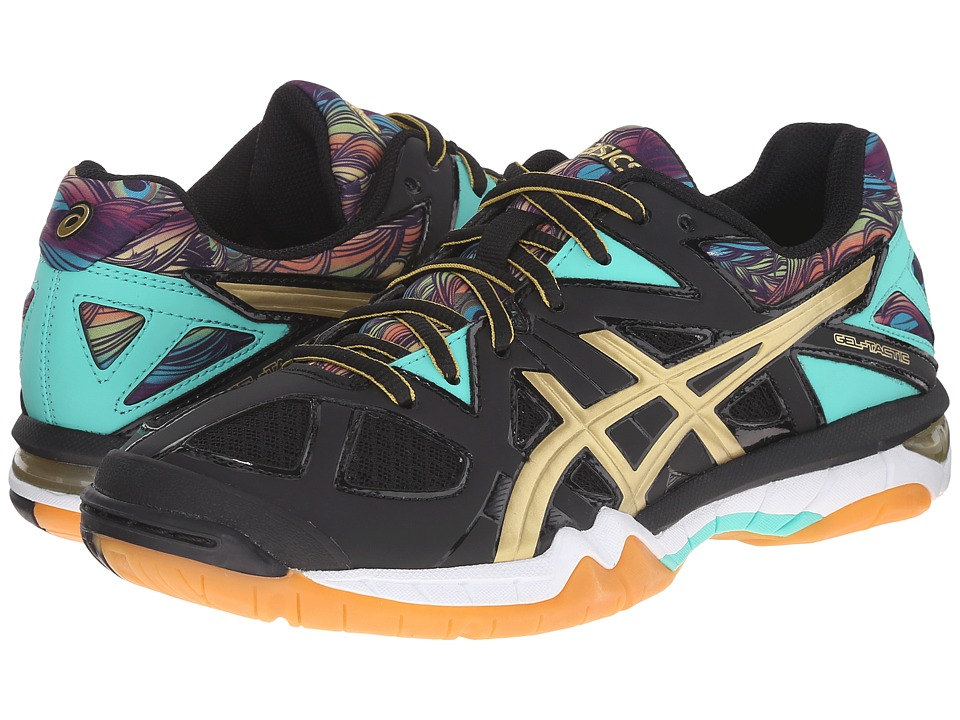 ASICS Gel-Tactic (Black/Gold/Electric Green) Women