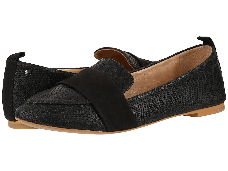UGG - Jonette Snake (Black) Women's Flat Shoes