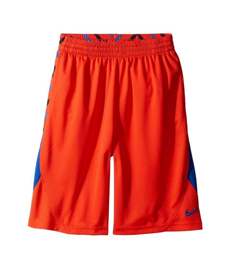 Nike Kids - Avalanche Allover Print Short (Little Kids/Big Kids) (Max Orange/Game Royal/Game Royal) Boy's Shorts