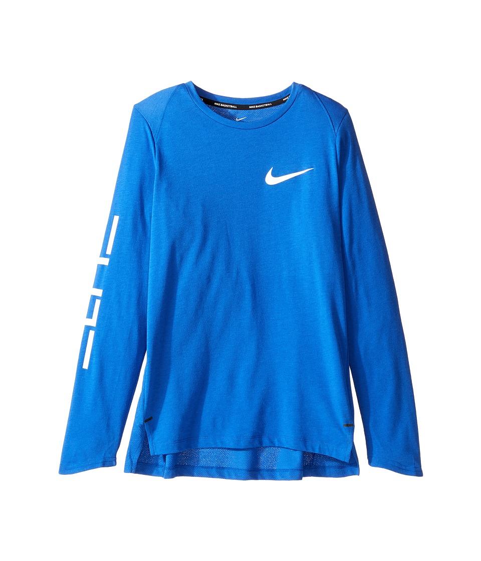 Nike Kids - Dry Elite Long Sleeve Basketball Top (Little Kids/Big Kids) (Game Royal) Boy's Clothing