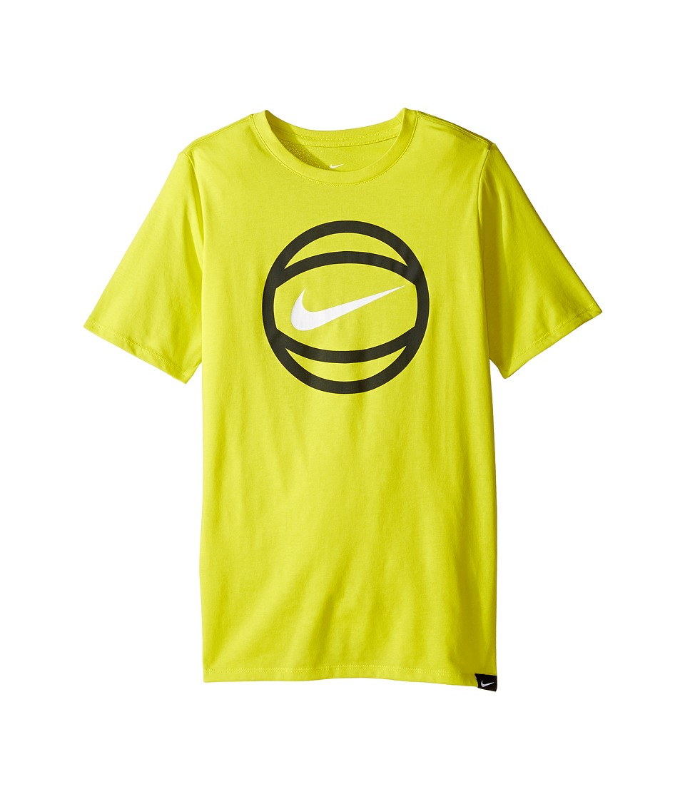 Nike Kids - Short Sleeve Ball Logo Dry Tee (Little Kids/Big Kids) (Electrolime) Boy's T Shirt