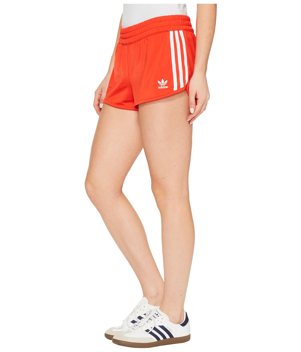 adidas Originals - Regular 3-Stripes Shorts (Core Red) Women's Shorts