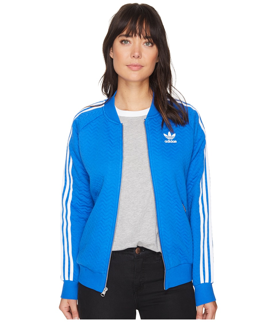 adidas Originals - Superstar Track Top (Blue) Women's Clothing