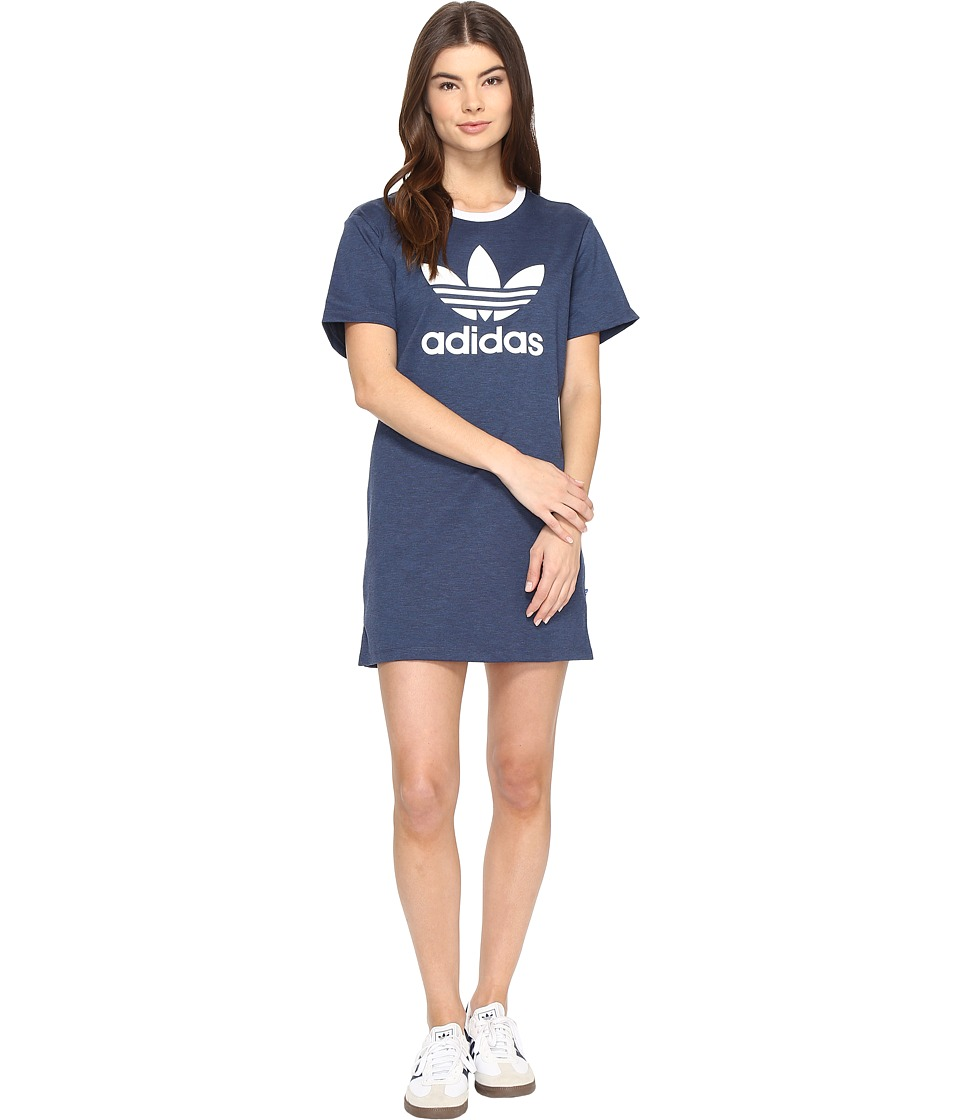 adidas Originals - Trefoil Tee Dress (Mystery Blue) Women's Dress