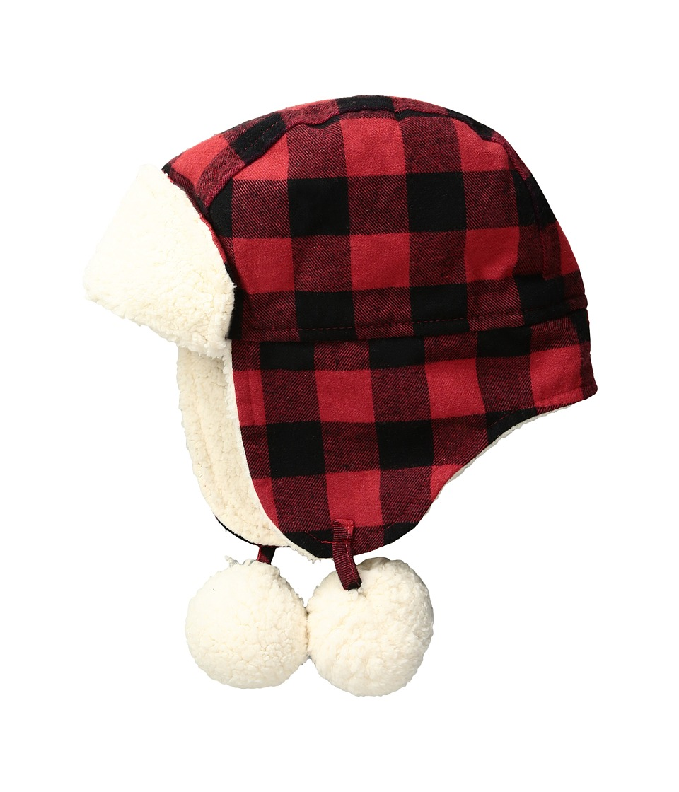 Mud Pie - Buffalo Check Hat (Infant) (Red) Caps