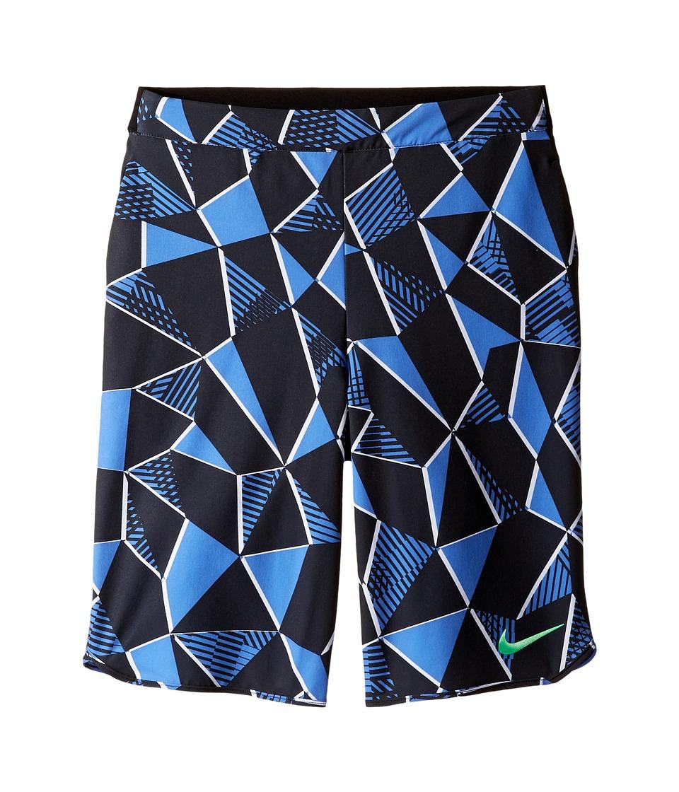 Nike Kids - Court Flex Ace Print Tennis Short (Little Kids/Big Kids) (Comet Blue/Black/Electro Green) Boy's Shorts