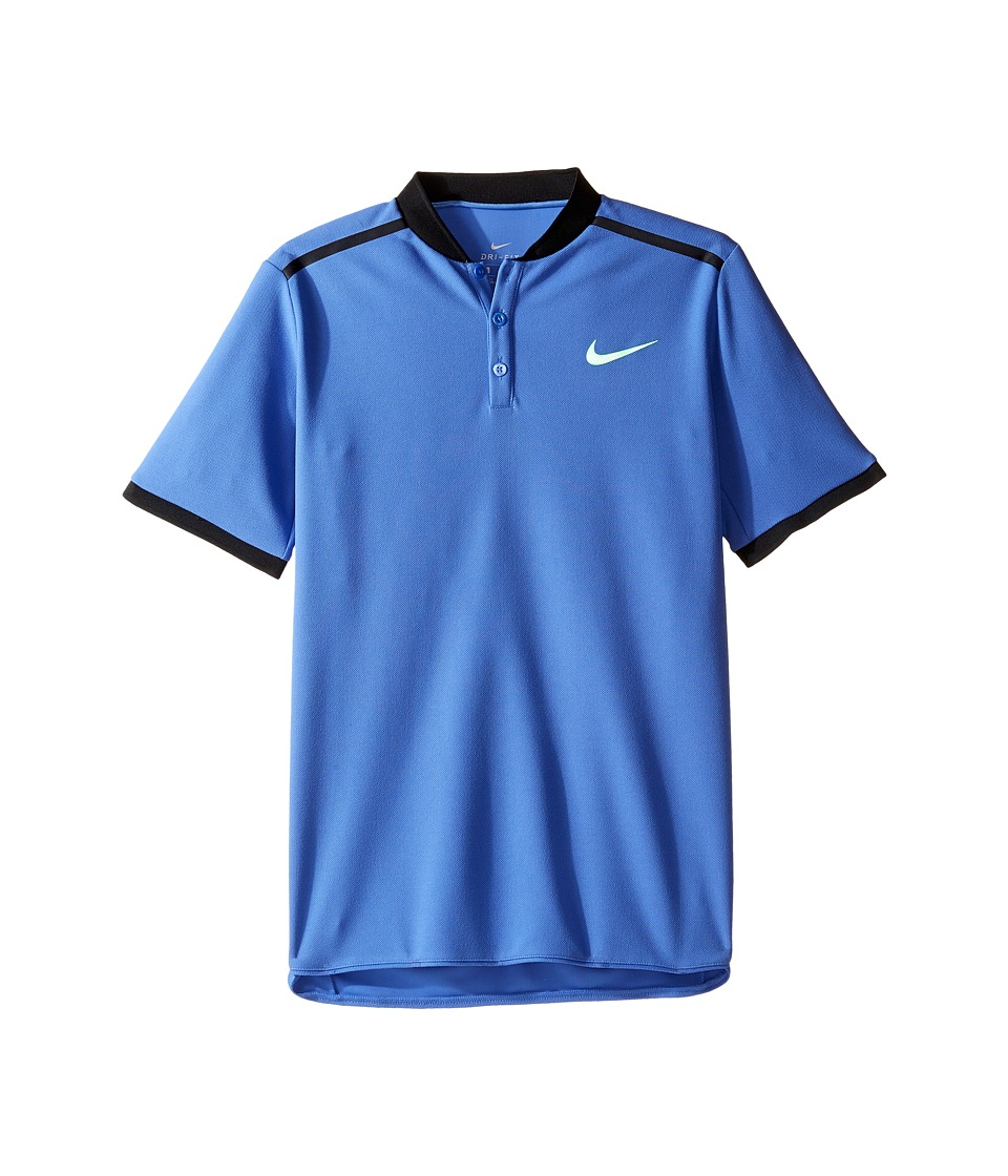 Nike Kids - Court Advantage Tennis Polo (Little Kids/Big Kids) (Comet Blue) Boy's Short Sleeve Pullover