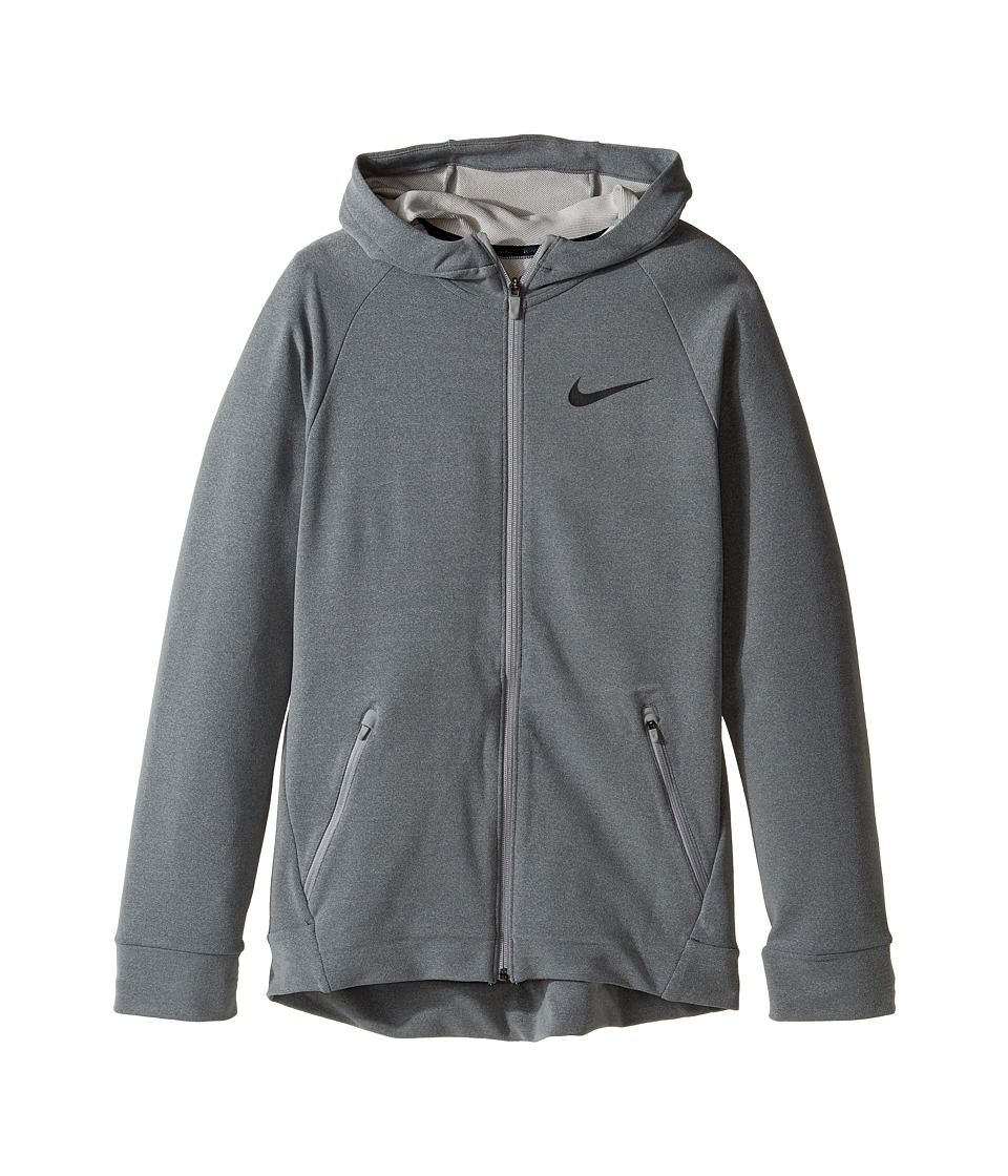 Nike Kids - Dry Full-Zip Training Hoodie (Little Kids/Big Kids) (Dark Steel Grey/Anthracite) Boy's Sweatshirt