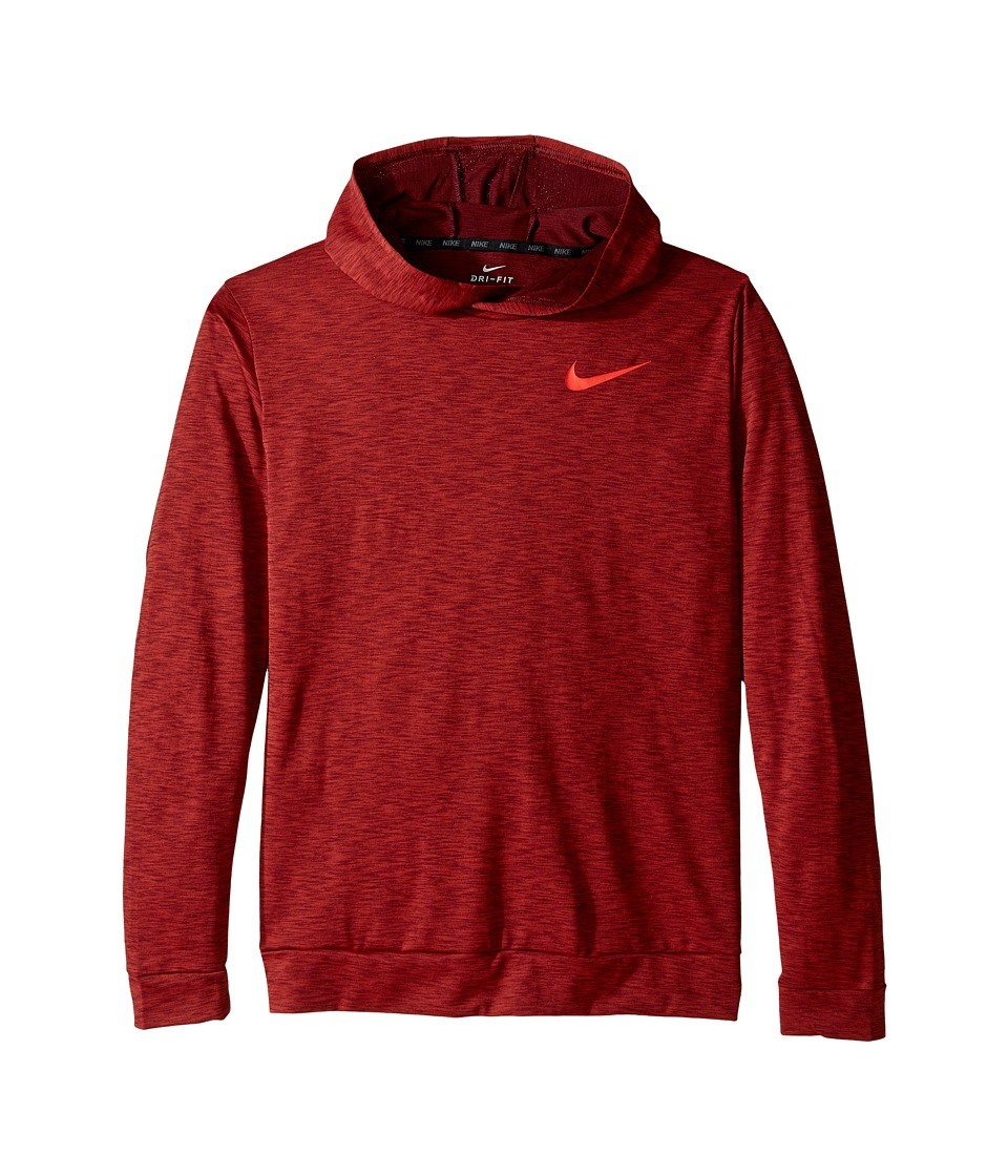Nike Kids - Dry Pullover Training Hoodie (Little Kids/Big Kids) (Dark Cayenne/Night Maroon) Boy's Sweatshirt