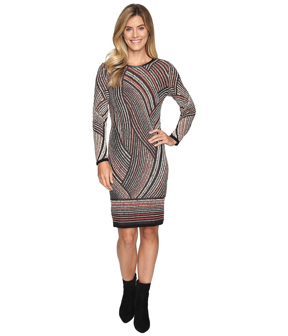 NIC+ZOE Smokey Lines Dress (Multi) Women