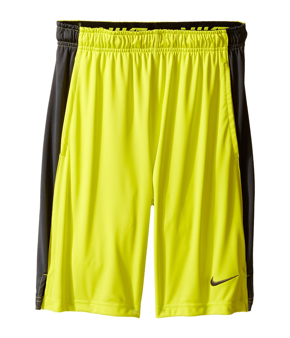 Nike Kids - Dry Fly Shorts (Little Kids/Big Kids) (Electrolime/Anthracite/Anthracite/Black) Boy's Shorts