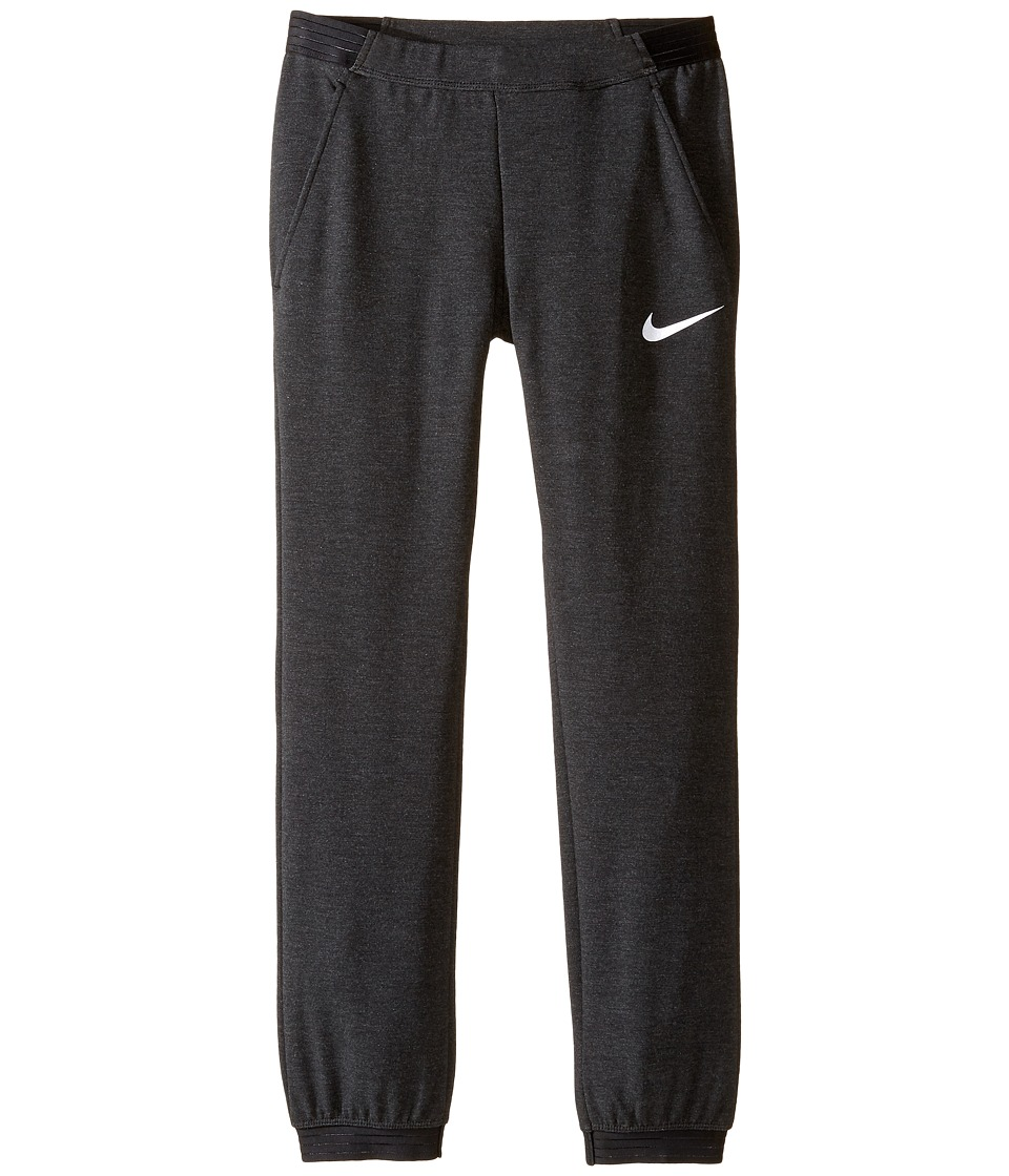 Nike Kids - Dry Training Pant (Little Kids/Big Kids) (Black/Black/White) Girl's Casual Pants