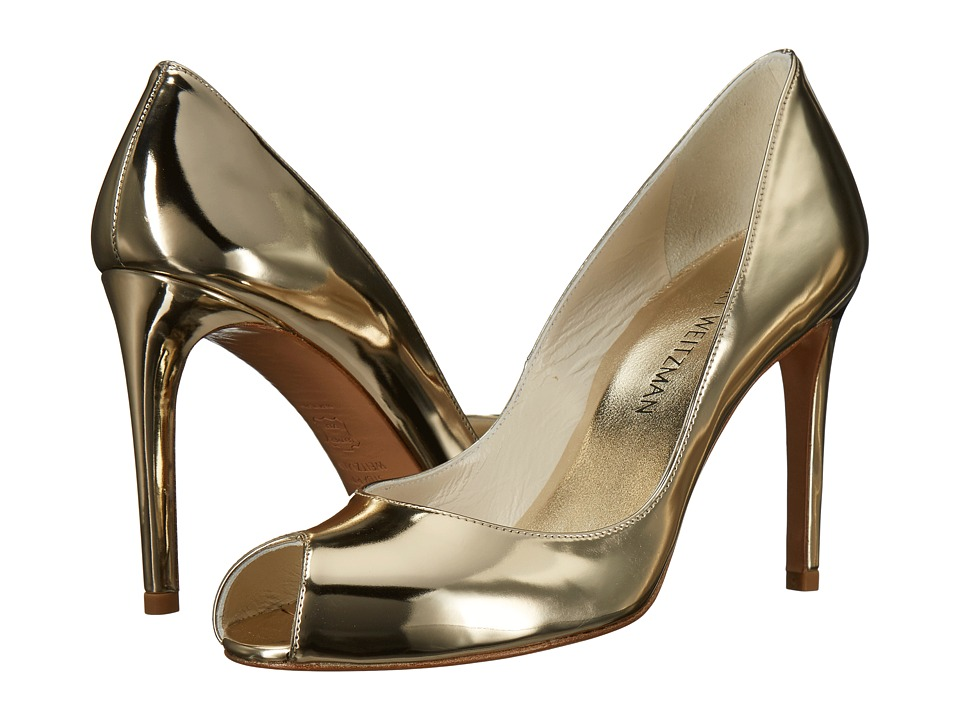 Stuart Weitzman Cachet (Pale Gold Glass) High Heels