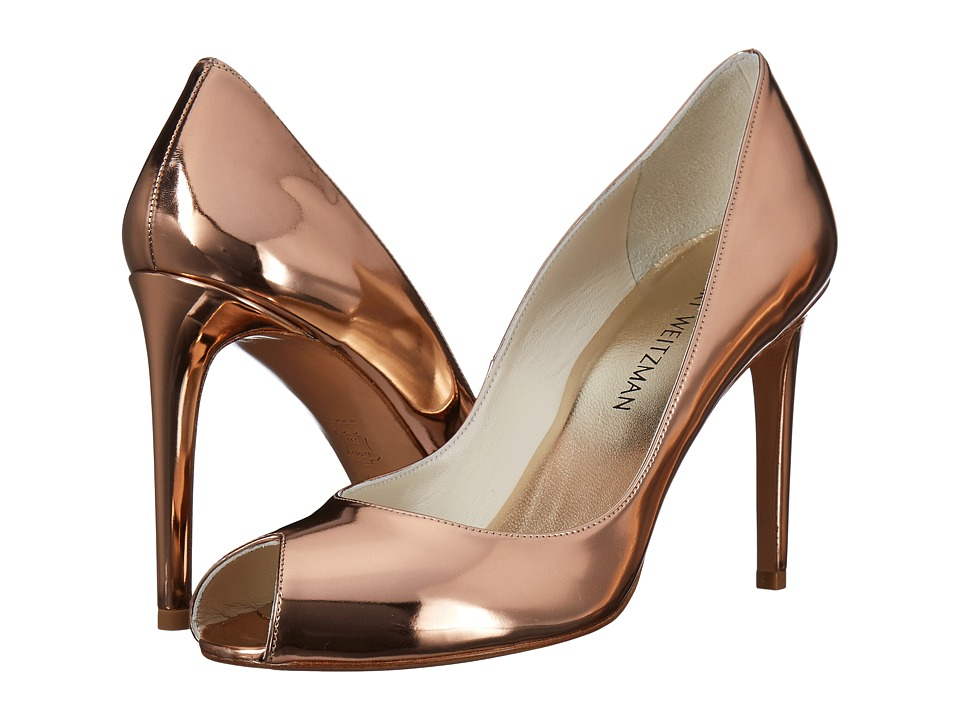 Stuart Weitzman Cachet (Beige Glass) High Heels
