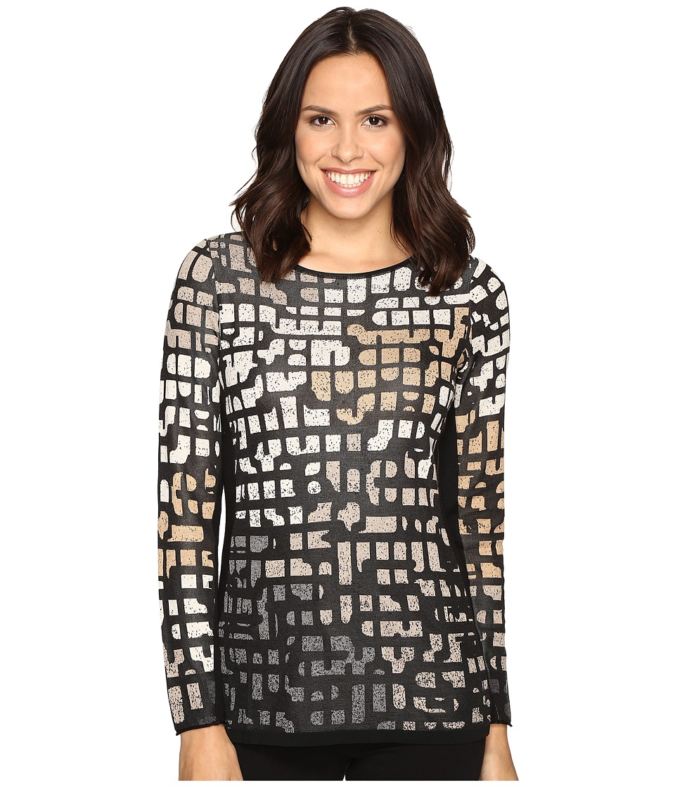 NIC+ZOE - Pattern Play Top (Neutral Mix) Women's Clothing