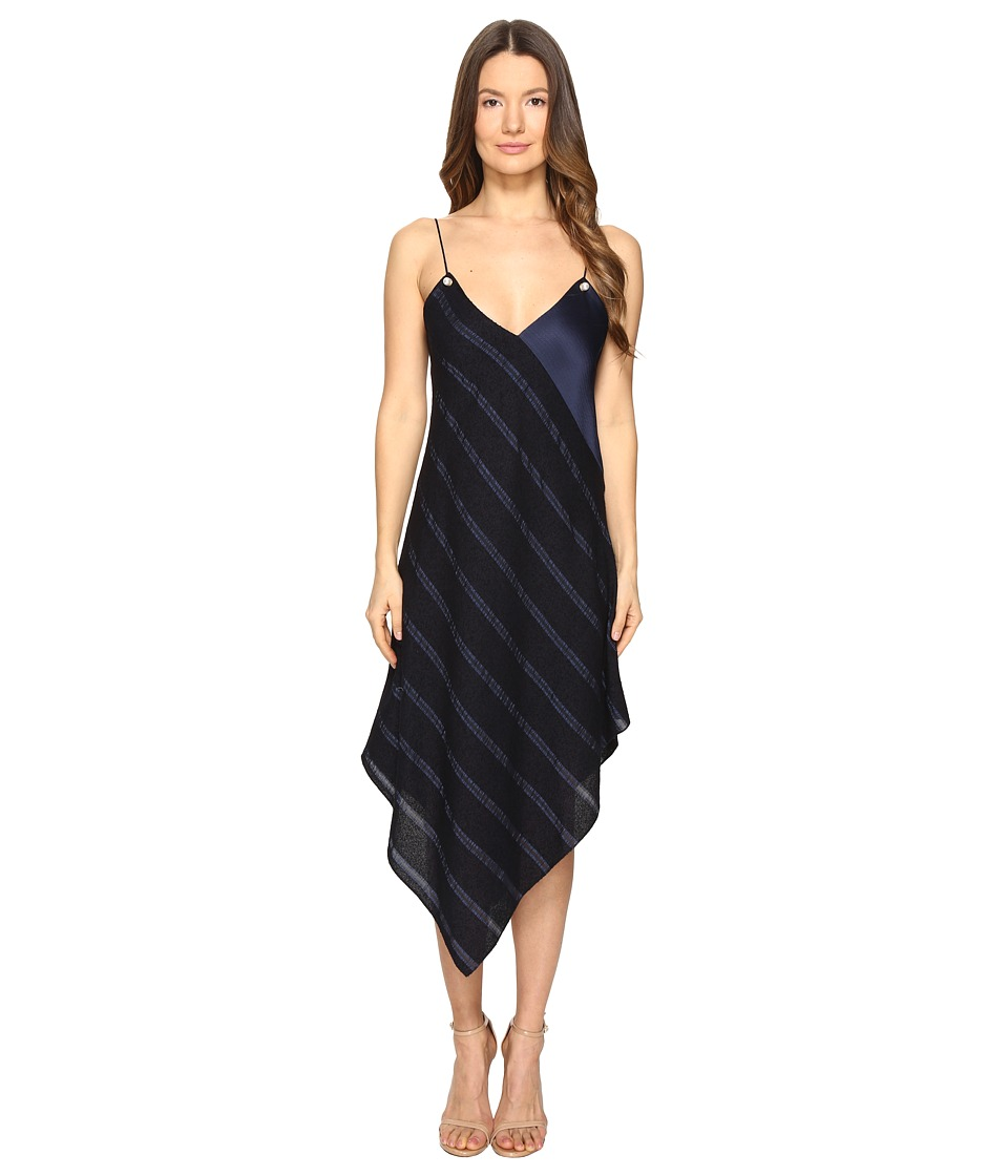 Prabal Gurung - Cami Dress w/ Pearls (Navy) Women's Dress