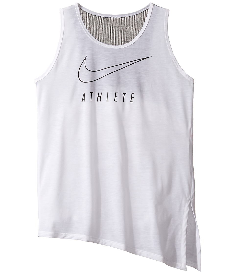 Nike Kids - Breathe Training Tank (Little Kids/Big Kids) (White/Black/Black) Girl's Sleeveless