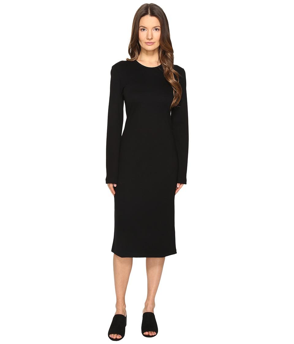 Prabal Gurung Long Sleeve Printed Knit Dress (Black) Women