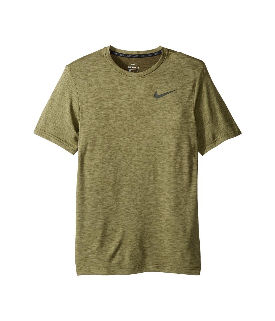 Nike Kids - Dry Training Short Sleeve Top (Little Kids/Big Kids) (Palm Green/Legion Green) Boy's Clothing