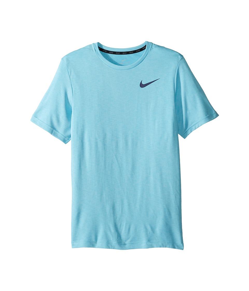 Nike Kids - Dry Training Short Sleeve Top (Little Kids/Big Kids) (Still Blue/Vivid Sky) Boy's Clothing
