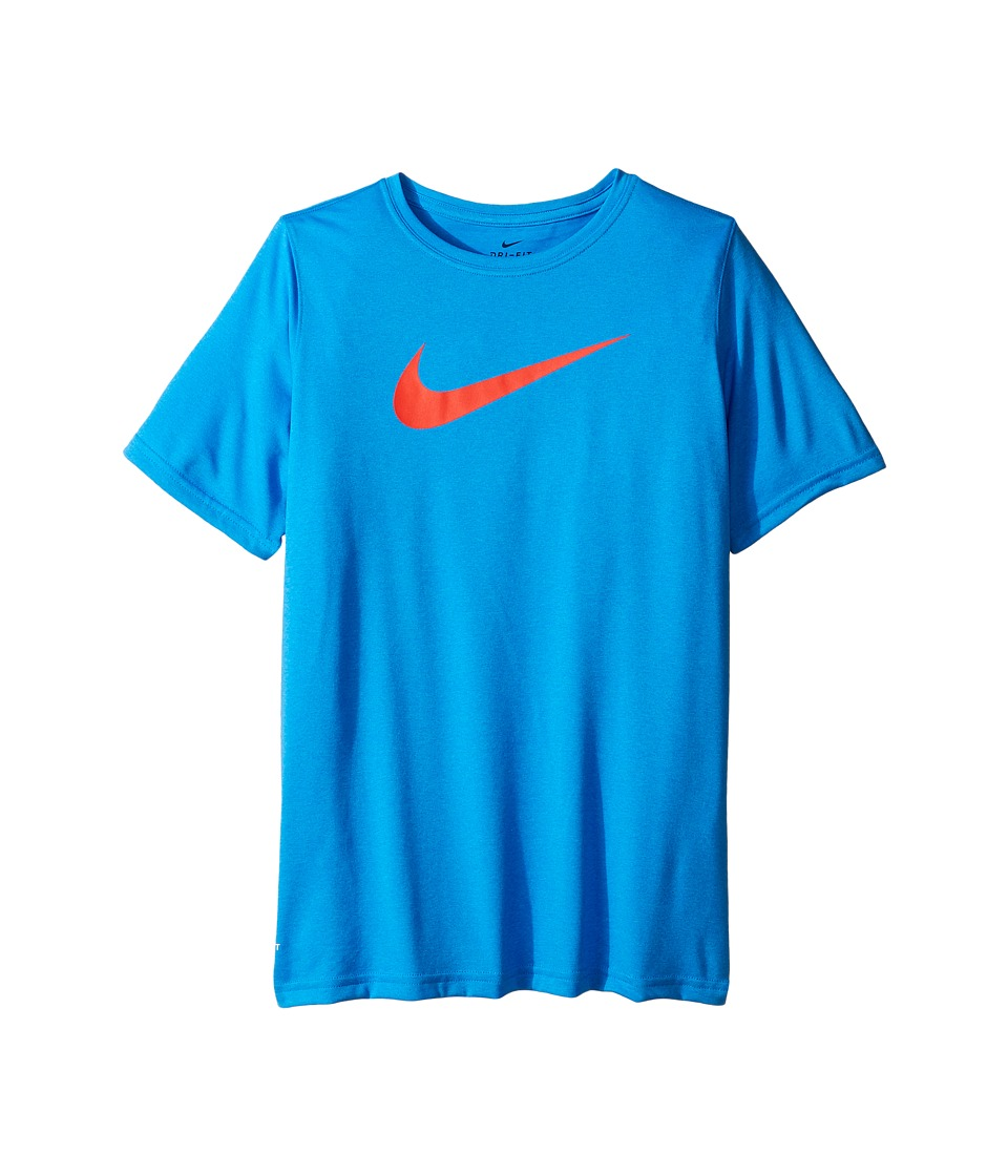 Nike Kids - Dry Short Sleeve Training T-Shirt (Little Kids/Big Kids) (Photo Blue/Max Orange) Boy's T Shirt