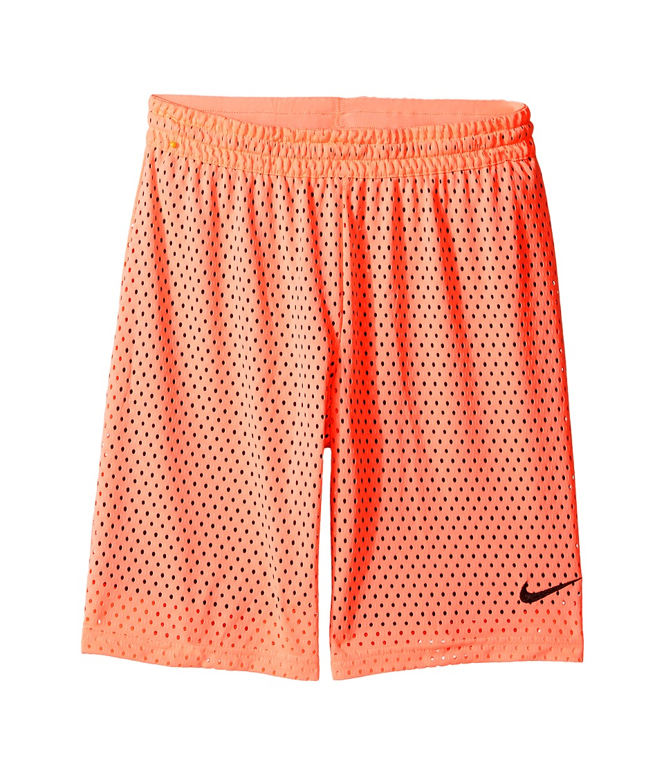 Nike Kids - 7 Training Short (Little Kids/Big Kids) (Lava Glow/Black/Black/Black) Girl's Shorts