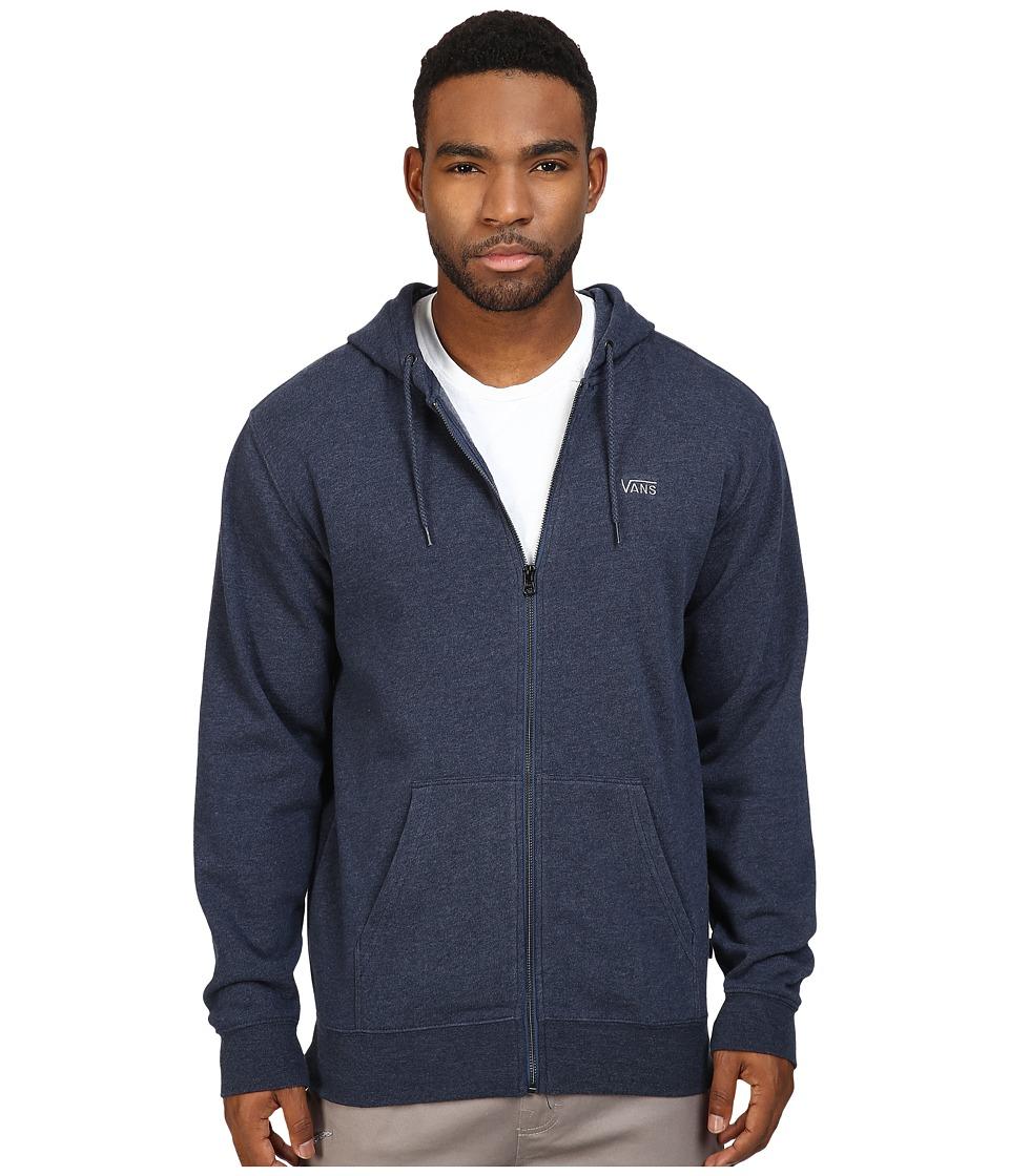 Vans - Core Basic Zip Hoodie IV (Dress Blues Heather) Men's Sweatshirt