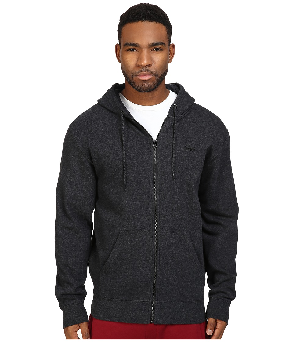 Vans - Core Basic Zip Hoodie IV (Black Heather) Men's Sweatshirt