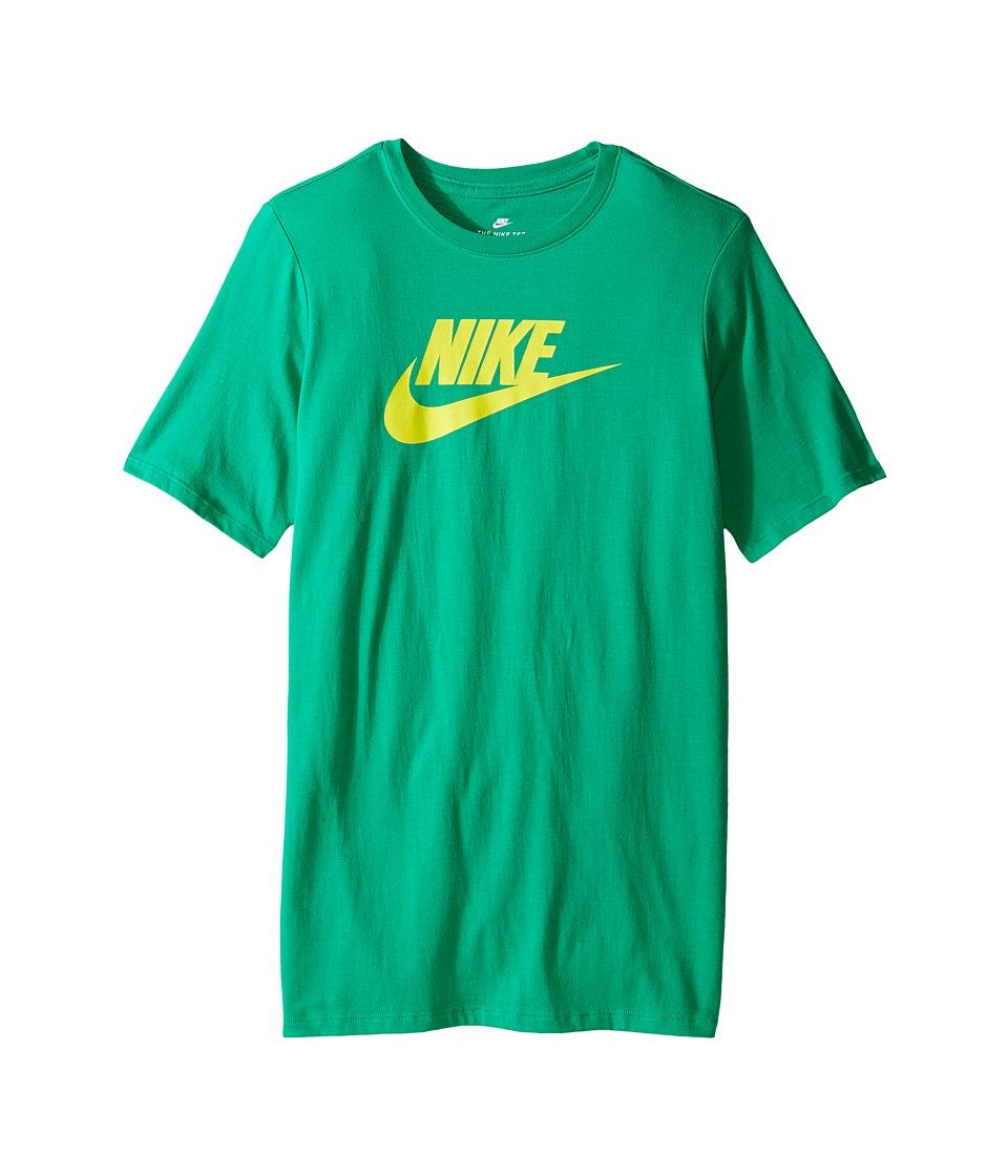 Nike Kids - Futura Tee (Little Kids/Big Kids) (Stadium Green/Electrolime) Boy's T Shirt