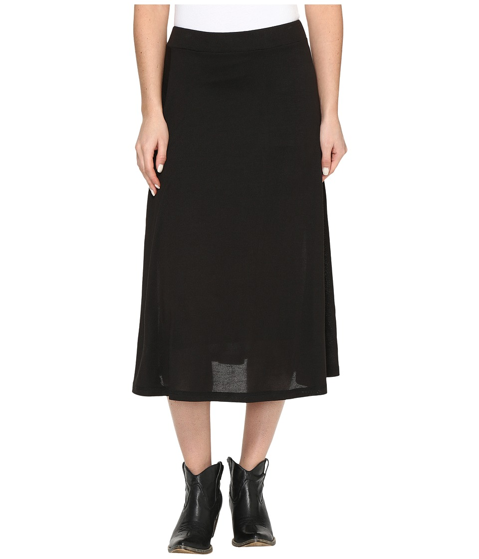 Roper 0612 Black Sweater Jersey A-Line Skirt (Black) Women