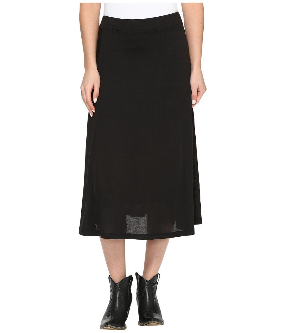 Roper - 0612 Black Sweater Jersey A-Line Skirt (Black) Women's Skirt