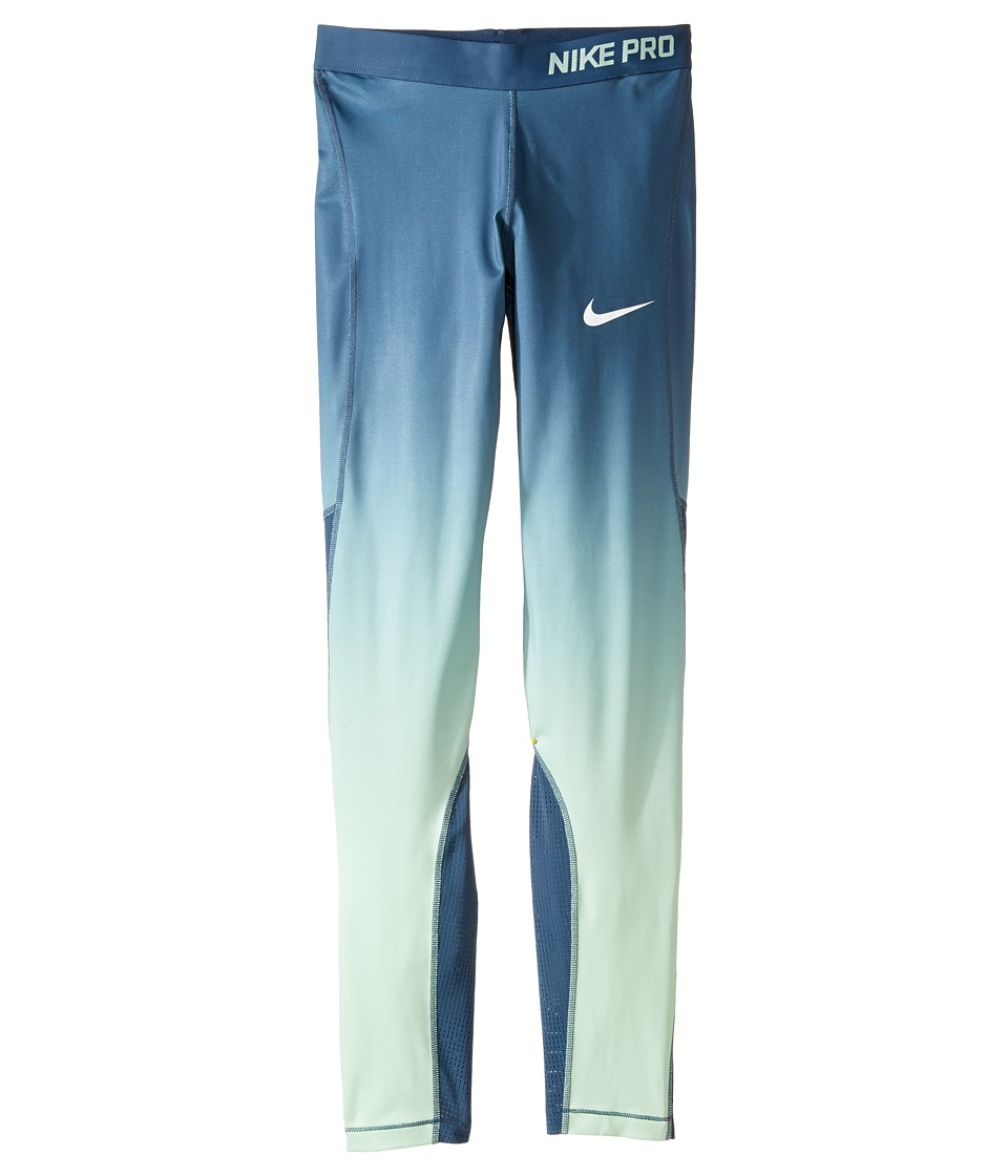 Nike Kids - Pro Hypercool Training Tight (Little Kids/Big Kids) (Squadron Blue/White) Girl's Workout