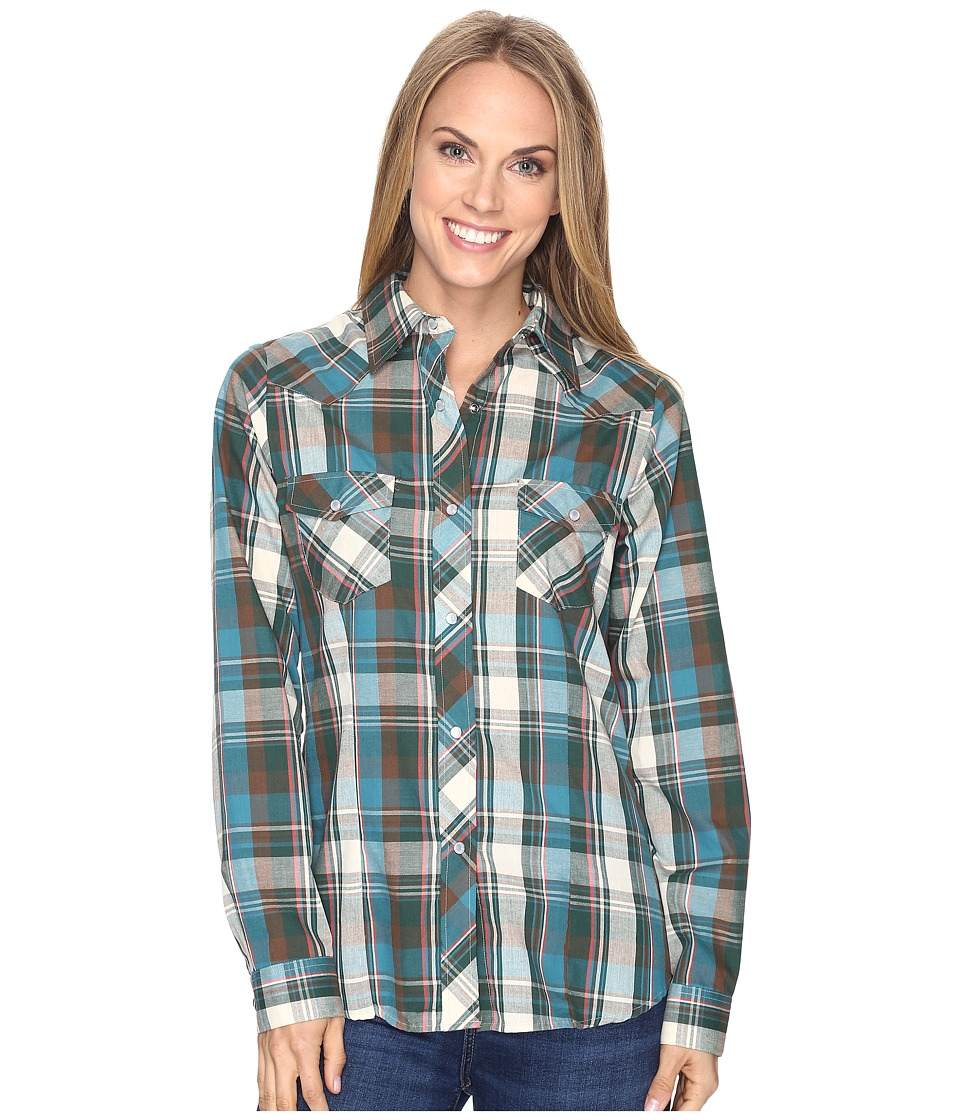 Roper - 0682 Sand and Sea Plaid (Tan) Women's Clothing