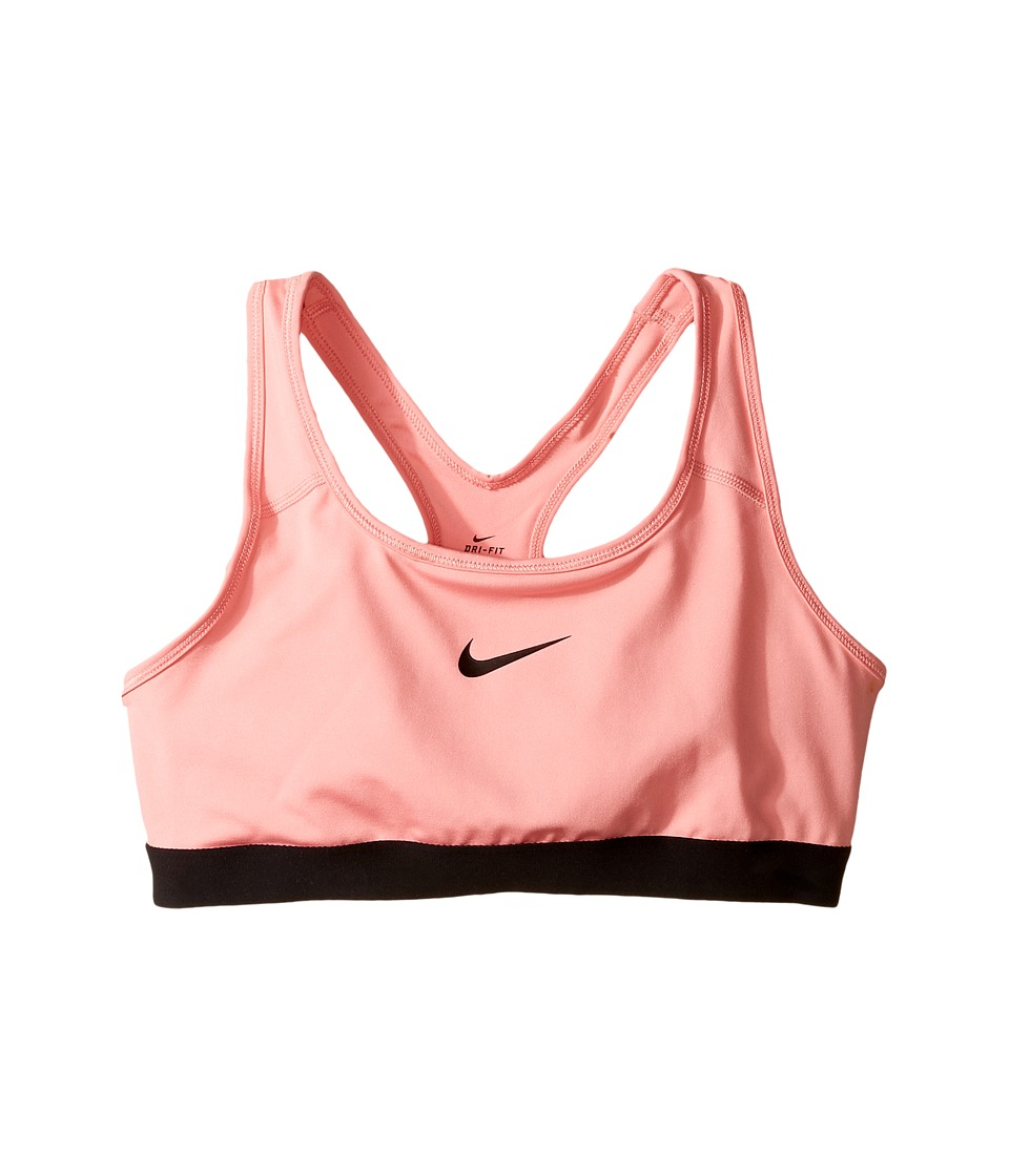 Nike Kids - Pro Medium Support Sports Bra (Little Kids/Big Kids) (Bright Melon/Black/Black) Girl's Bra