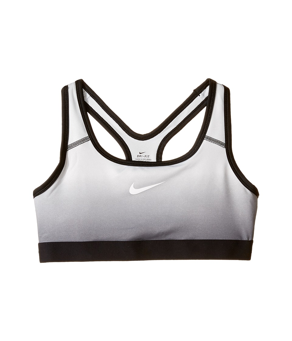 Nike Kids - Pro Medium Support Gradient Sports Bra (Little Kids/Big Kids) (Black/Black/Pure Platinum/White) Girl's Bra
