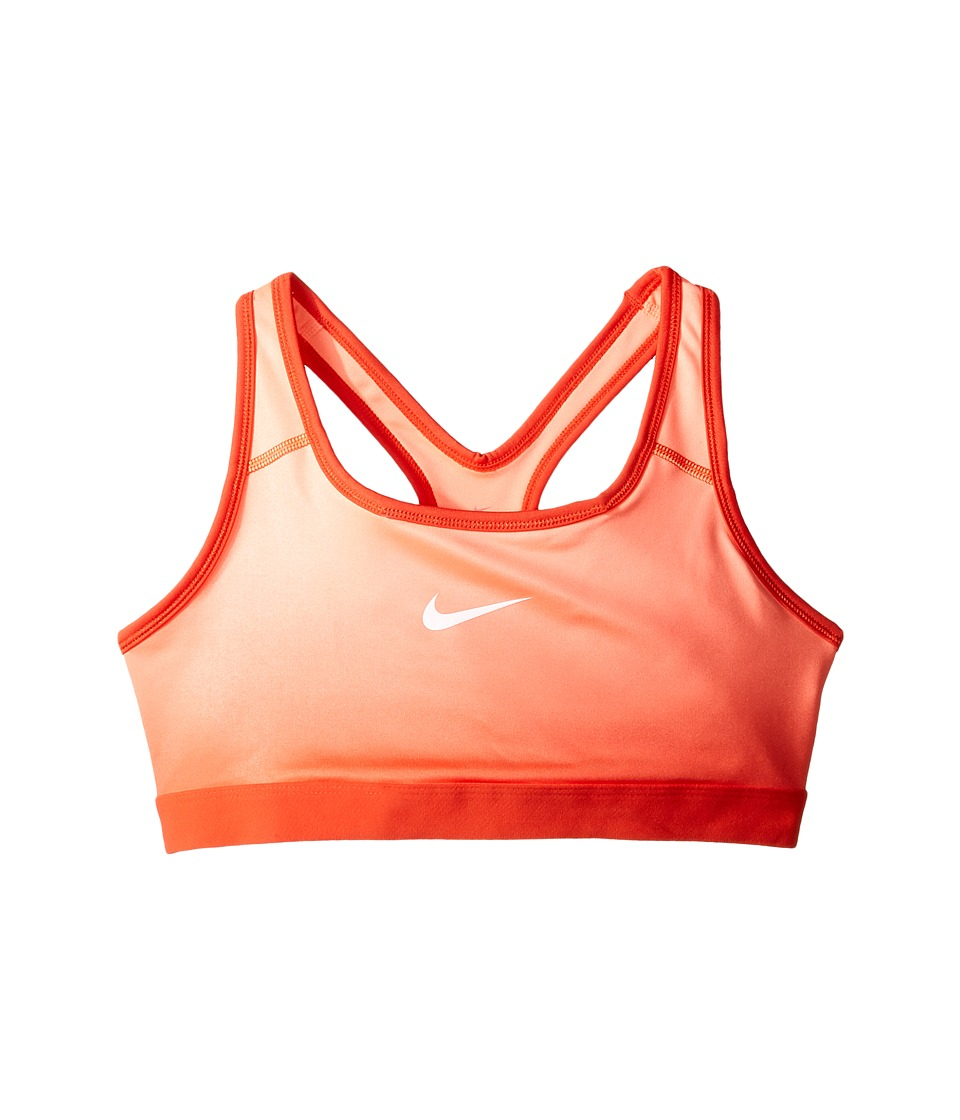 Nike Kids - Pro Medium Support Gradient Sports Bra (Little Kids/Big Kids) (Max Orange/Max Orange/Lava Glow/White) Girl's Bra